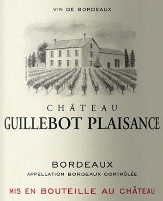 Château Guillebot Plaisance Bordeaux label