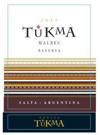 Malbec Reserva 2017 Tukma Front Label