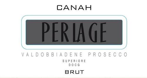 Perlage Canah Prosecco brut Label